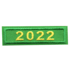 2022 Green Year Bar Patch