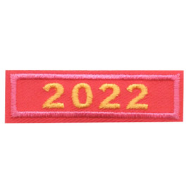 2022 Pink Year Bar Patch