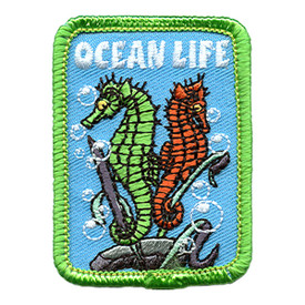 S-0665 Ocean Life - Sea Horses Patch