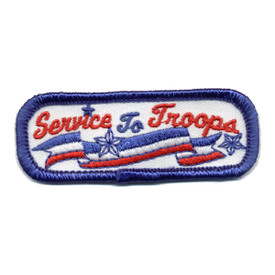S-0673 Service To Troops Patch