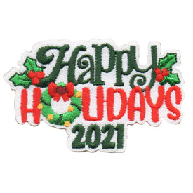 S-6455 2021 HAPPY HOLIDAYS PATCH