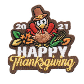 S-6456 2021 HAPPY THANKSGIVING PATCH