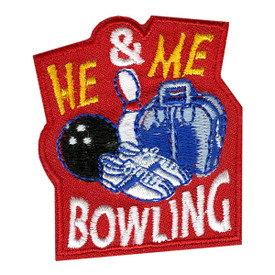 S-0692 He & Me Bowling Patch