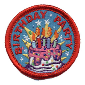 S-0702 Birthday Party Patch