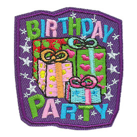 S-0703 Birthday Party Patch
