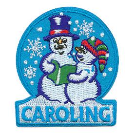 S-0705 Caroling- Snow People Patch