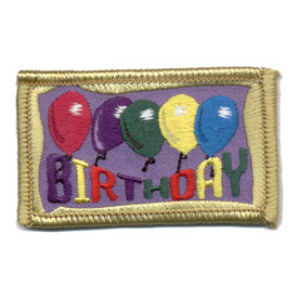 S-0722 Birthday (Balloons) Patch