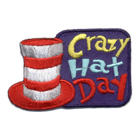 S-0835 Crazy Hat Day Patch