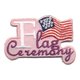 S-0837 Flag Ceremony - Pink Patch
