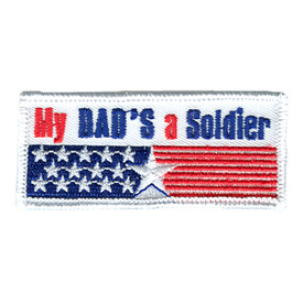 S-0887 My Dad's A Soldier Patch