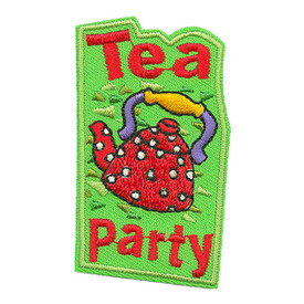 S-0928 Tea Party (Red Tea Pot) Patch