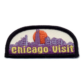 S-0934 Chicago Visit Patch