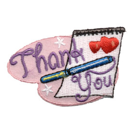 S-0937 Thank You (Paper & Pen) Patch