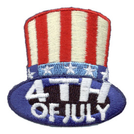 S-0947 4th Of July (Top Hat) Patch
