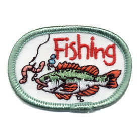 S-0986 Fishing (Fish W/ Worm) Patch