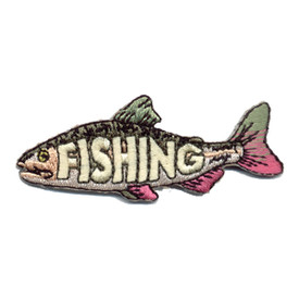 S-0989 Fishing (Laser Cut Fish) Patch