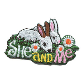 S-1128 She And Me (Rabbits) Patch