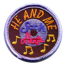 S-1172 He And Me Sock Hop Patch