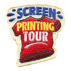S-1215 Screen Printing Tour Patch