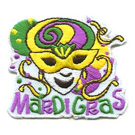 S-1232 Mardi Gras (Yellow Mask) Patch