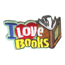 S-1255 I Love Books Patch
