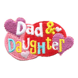S-1272 Dad & Daughter (Hearts) Patch