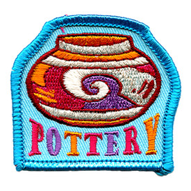 S-1291 Pottery - Blue Border Patch