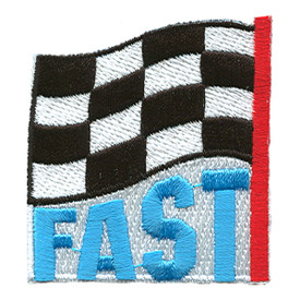 S-1385 Fast (Finish Line Flag) Patch