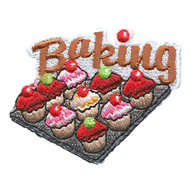S-1461 Baking (Cupcakes On Pan) Patch