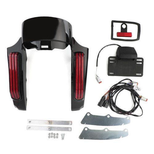Rear Fender Mudguard Fit For Harley RED