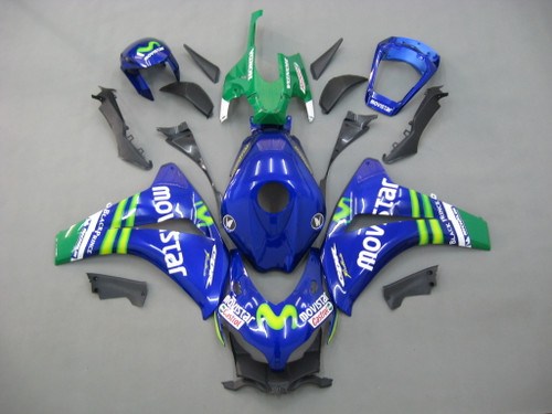 Fairings For Honda CBR1000 RR Blue Green Movistar Racing (2008-2011)
