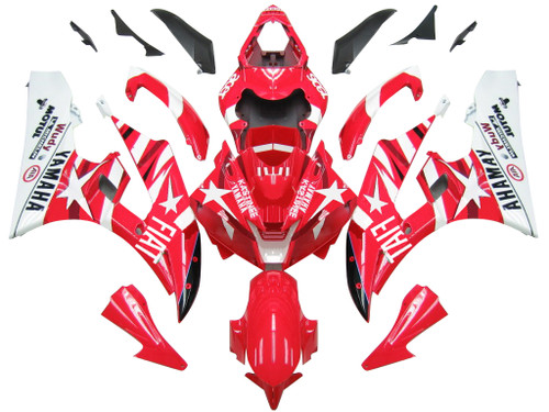 Fairings For Yamaha YZF-R6 Red White Star FIAT R6 Racing (2006-2007)