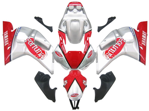 Fairings For Yamaha YZF-R6 Silver Red Fortuna R6 Racing (1998-2002)