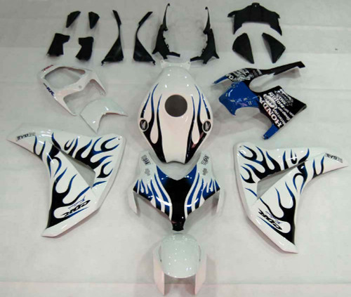 Fairings For Honda CBR1000 RR White & Blue Black Flame Racing (2008-2011)