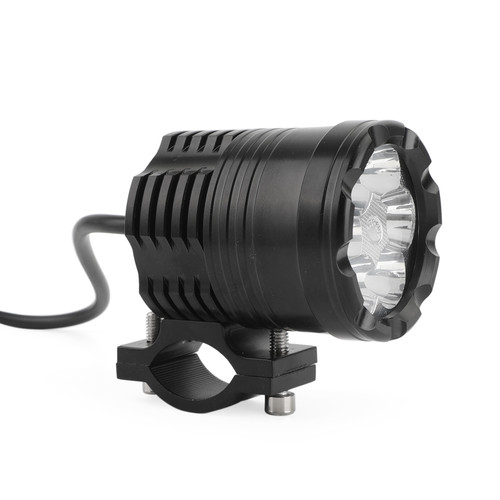 12V-80V DC 6 LED Electric Bicycle Bike Ultra bright Waterproof 1800LM Powerful Headlight Motorcycle Light BLK,