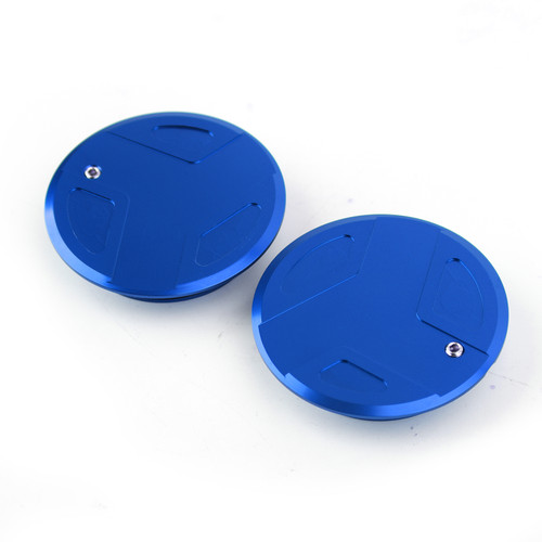 CNC Aluminum Frame Cover Cap Plug Fit For BMW R1200GS R1200RT R1250GS R1250R R1250RS BLUE