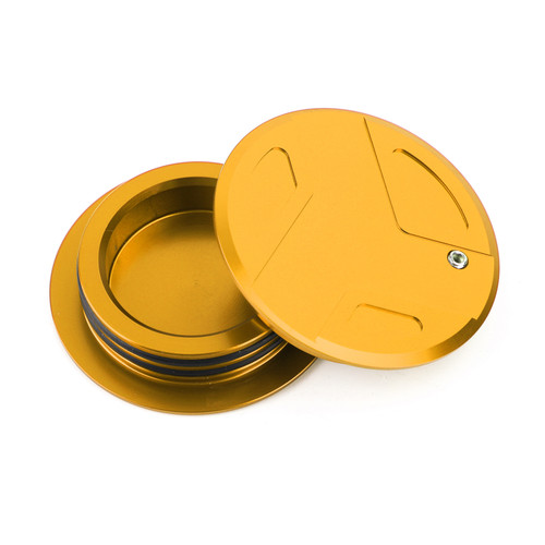 CNC Aluminum Frame Cover Cap Plug Fit For BMW R1200GS R1200RT R1250GS R1250R R1250RS GOLD