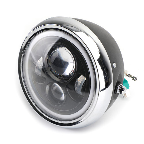 7 inches Motorcycle Headlight Round CREE LED Projector For Cafe Racer Cruiser Bobber Custom A-037