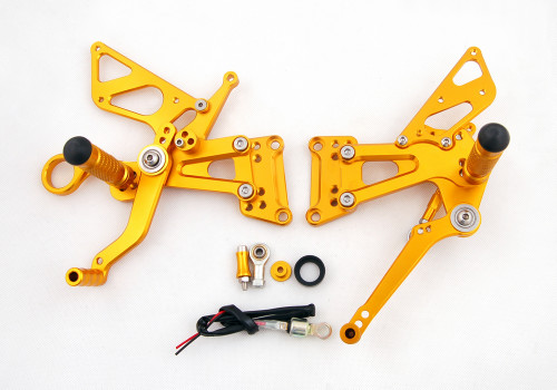 Adjustable CNC Rider Rear Set Rearsets Footrest Foot Rest Pegs Fit For BMW S1000RR 2010-2014 GOLD
