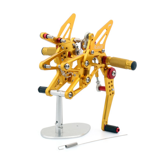 Adjustable CNC Rider Rear Set Rearsets Footrest Foot Rest Pegs Fit For Triumph Daytona 675/R 2013-2017 GOLD