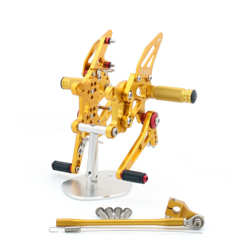 Adjustable CNC Rider Rear Set Rearsets Footrest Foot Rest Pegs Fit For Aprilia RSV4 1000 Factory 2009-2012 GOLD