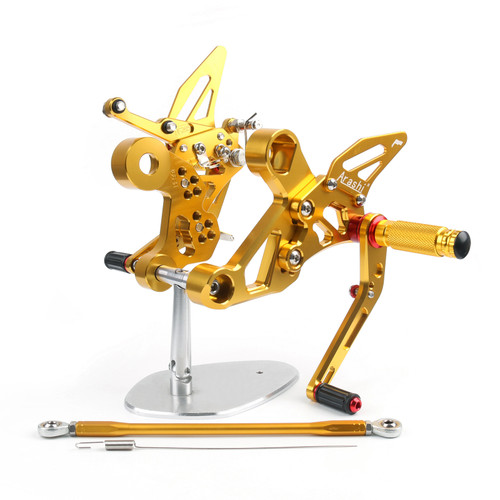 Adjustable CNC Rider Rear Set Rearsets Footrest Foot Rest Pegs Fit For Yamaha MT-09 FZ-09 2014-2017 GOLD