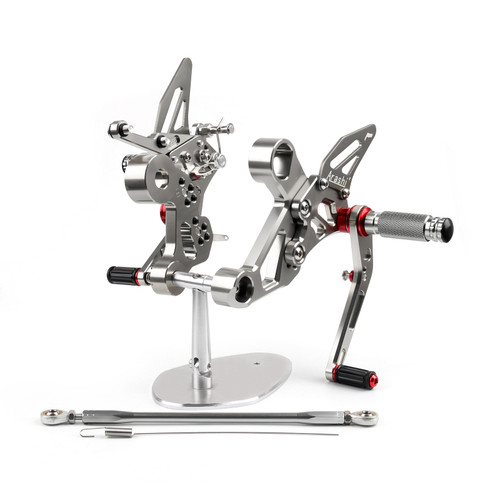 Adjustable CNC Rider Rear Set Rearsets Footrest Foot Rest Pegs Fit For Yamaha MT-09 FZ-09 2014-2017 GRAY
