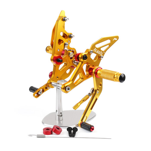 Adjustable CNC Rider Rear Set Rearsets Footrest Foot Rest Pegs Fit For Yamaha MT-07 FZ07 2014-2018 GOLD