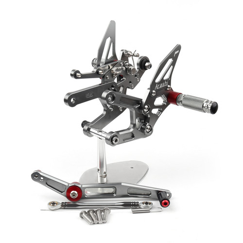 Adjustable CNC Rider Rear Set Rearsets Footrest Foot Rest Pegs Fit For Yamaha YZF R6 2017-2020 GRAY