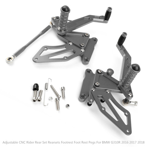 Adjustable CNC Rider Rear Set Rearsets Footrest Foot Rest Pegs Fit For BMW G310R 2016 2017 2018 GRAY