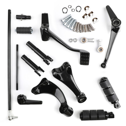 Motorcycle Forward Controls Foot Pegs Levers and Linkages Fit For Harley Sportster XL883 XL1200 XL883N Iron 883 72 BLK