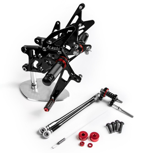 Adjustable CNC Rider Rear Set Rearsets Footrest Foot Rest Pegs Fit For Honda CBR600RR ABS 2009-2015 BLK