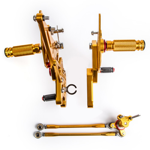 Adjustable CNC Rider Rear Set Rearsets Footrest Foot Rest Pegs Fit For Honda CBR600RR ABS 2009-2015 GOLD