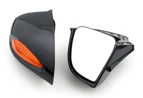 Rear Mirrors Turn Signals Lens Fit For BMW R1100RT R1100RTP R1150RT Black